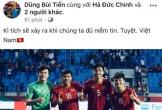 Các cầu thủ của ĐT Việt Nam chia sẻ gì trên mạng xã hội sau chiến thắng?