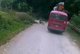 Lao trúng vào hông xe khách, bé trai thoát chết khó tin