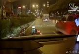 Nam thanh niên suýt mất mạng dưới bánh xe tải vì vượt đèn đỏ