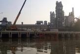 Hải Phòng: Vỡ đường ống dẫn công ty xi măng Chinfon, 7 khối dầu tràn ra môi trường