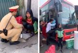 CSGT giúp bé gái đói lả bên đường về với gia đình