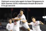 Báo châu Á hết lời khen bàn thắng muộn và bản lĩnh của U22 Việt Nam