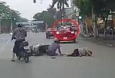 Nữ tài xế vượt phải, luồn lách như xe máy, gây tai nạn thót tim ở Thái Bình
