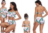Mẫu áo tắm đôi cho mẹ và con gái đi biển ngày hè