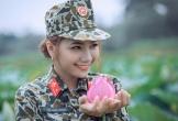 Nữ thiếu úy xinh đẹp như hot girl của 'Bạn muốn hẹn hò' khiến dân mạng mê mệt với bộ ảnh 'Đặc công bên hồ sen'