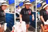 Nữ công an chửi bới, giật tóc nhân viên an ninh sân bay Tân Sơn Nhất