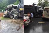Xe khách đấu đầu ô tô tải, nhiều người bị thương nặng ở Phú Thọ