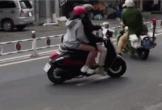 Clip: Bị CSGT chặn đầu, đôi nam nữ bẻ lái bỏ chạy và cái kết ê chề