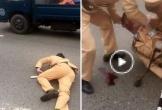 Hà Nội: Đôi nam nữ đi xe máy vượt đèn đỏ, tông gục Trung úy CSGT trên Quốc lộ 32