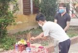 Nghệ An: Cha qua đời, nam thanh niên chít khăn tang lập bàn thờ cha trong khu cách ly