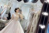 Hot girl Trâm Anh bất ngờ đăng ảnh thử váy cưới khiến dân tình xôn xao