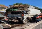 Đâm vào xe bồn, tài xế xe tải tử vong trong cabin