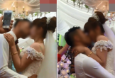 Chú rể có hành động gây sốc khi hôn cô dâu ngay trên sân khấu hôn lễ khiến nhiều người bàng hoàng chẳng hiểu lí do là sao