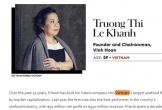 Biết gì về quý bà Lệ Khanh lọt Top Doanh nhân quyền lực nhất Châu Á?