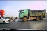 Tài xế xe ben bị lái xe con 'dạy dỗ' vì đi ngược chiều