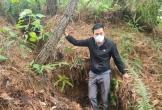 Núi Biềng Kha nứt lớn, nguy cơ đất đá trượt xuống nhà dân
